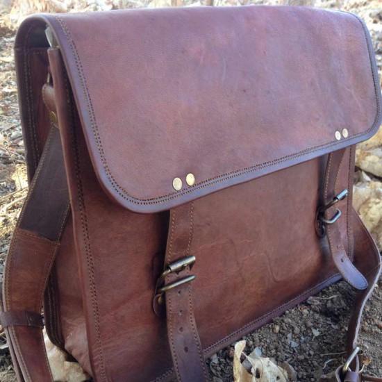 Retro Leather Messenger Bag